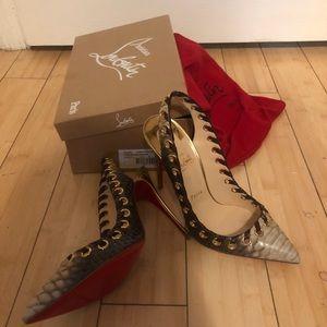 Christian louboutin python, heels 100% authentic